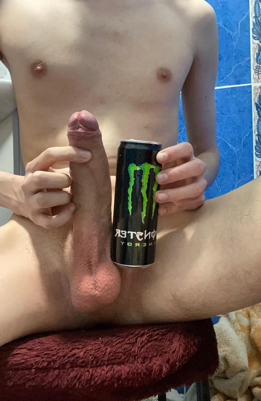 Big cock VS soda can