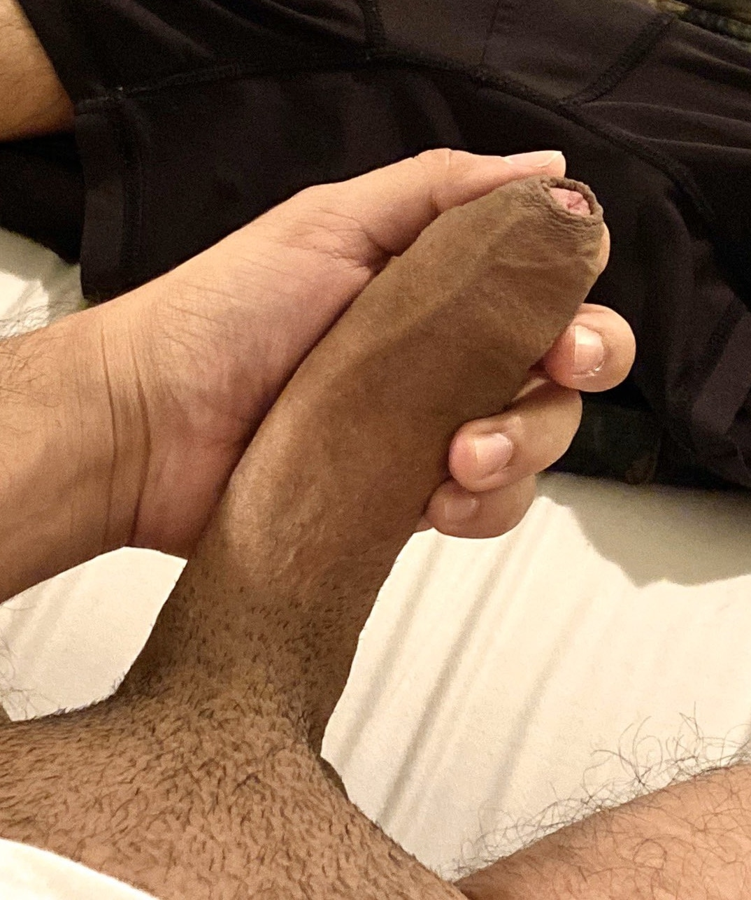 Big dick with trimmed pubes