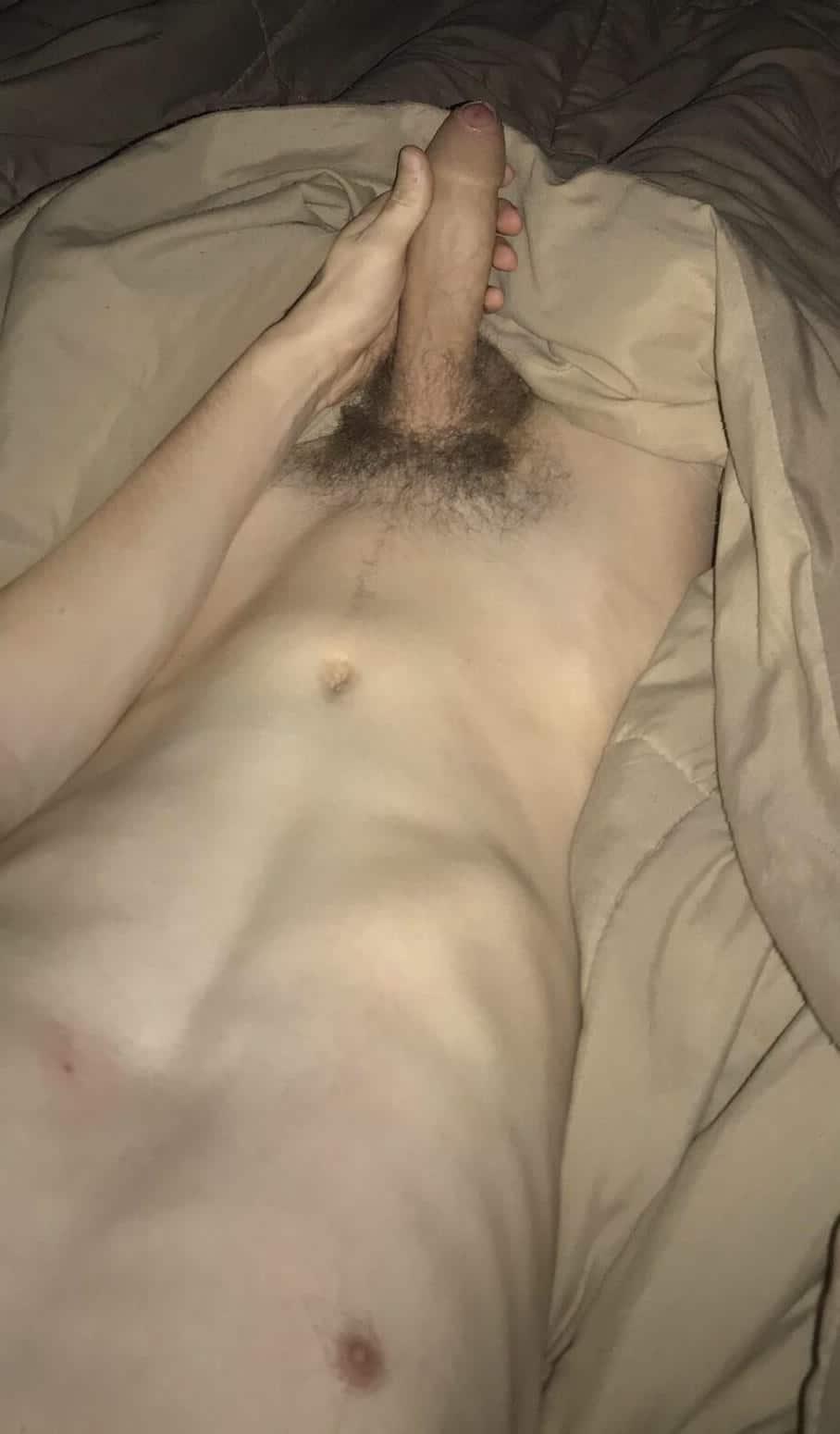 Big hairy uncut cock