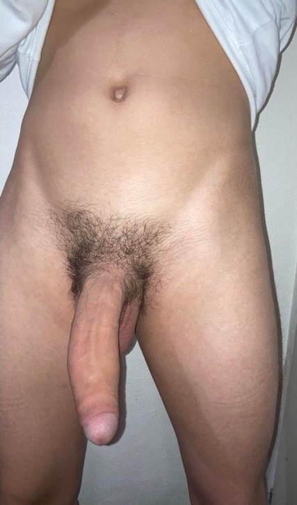 Boy showing his big dick