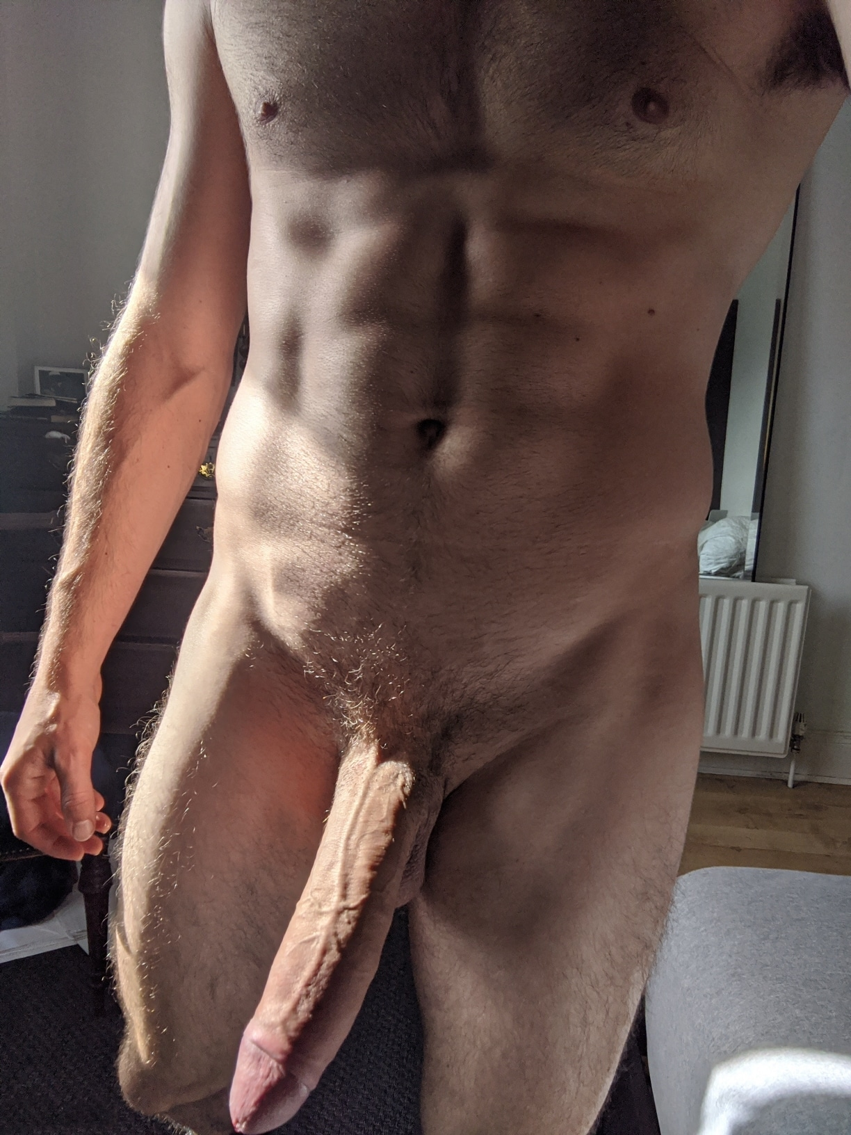 Hairy body and big dick