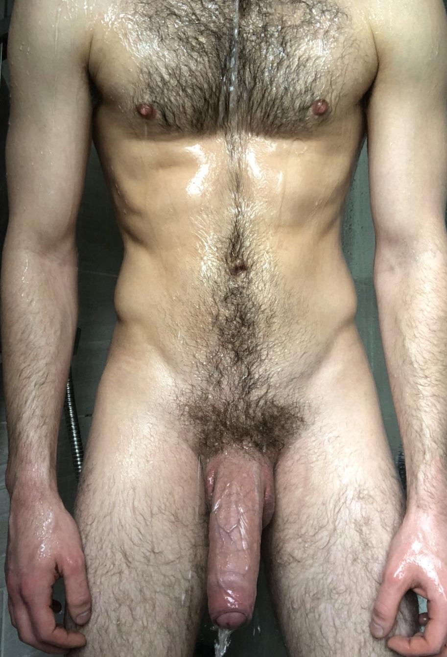 Hairy nude man