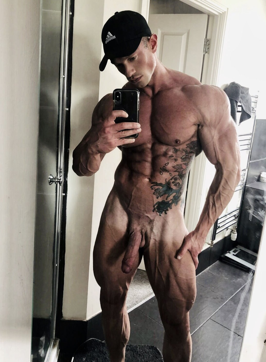 Hot hunk taking a selfie