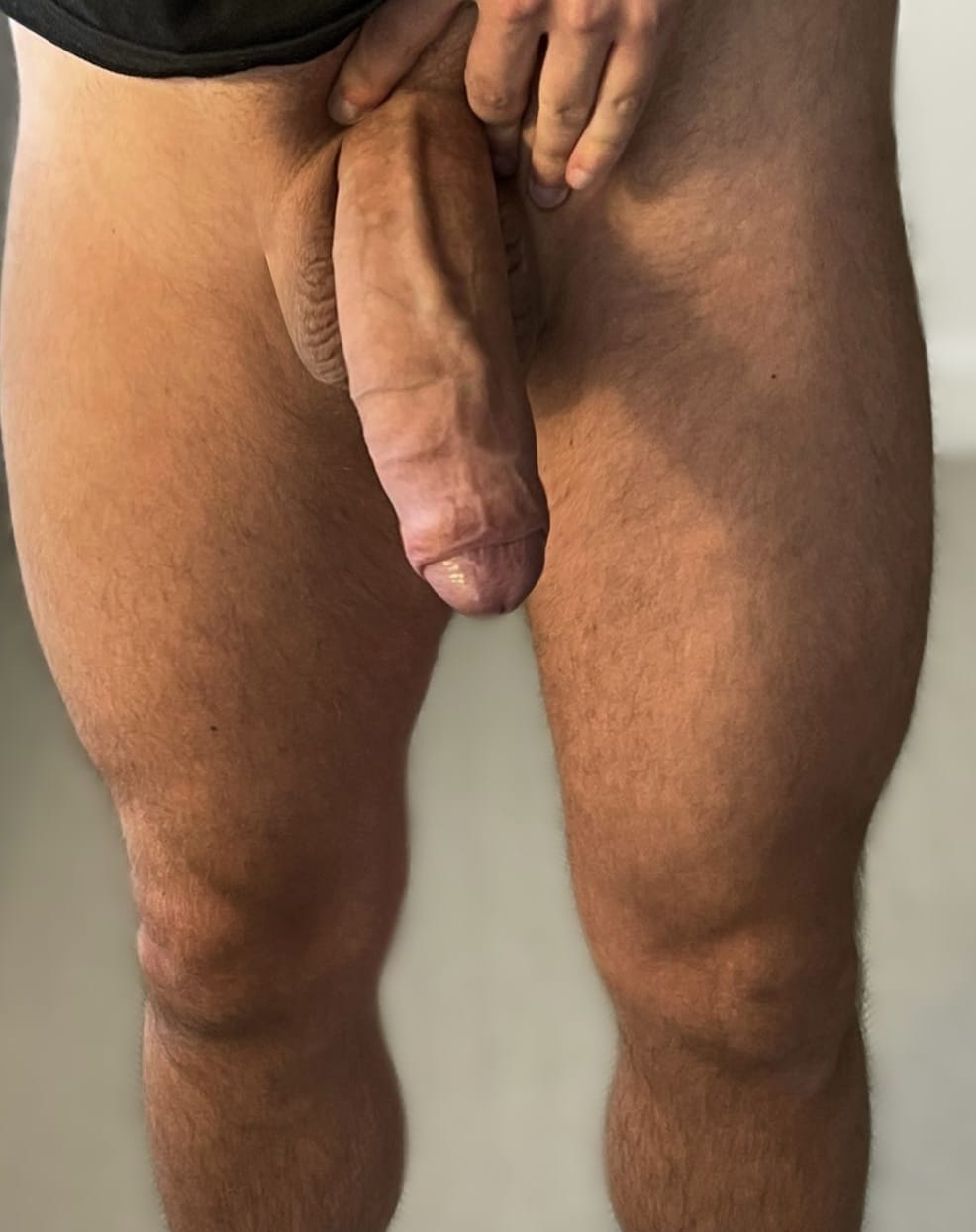 Muscular tighs and a big dick