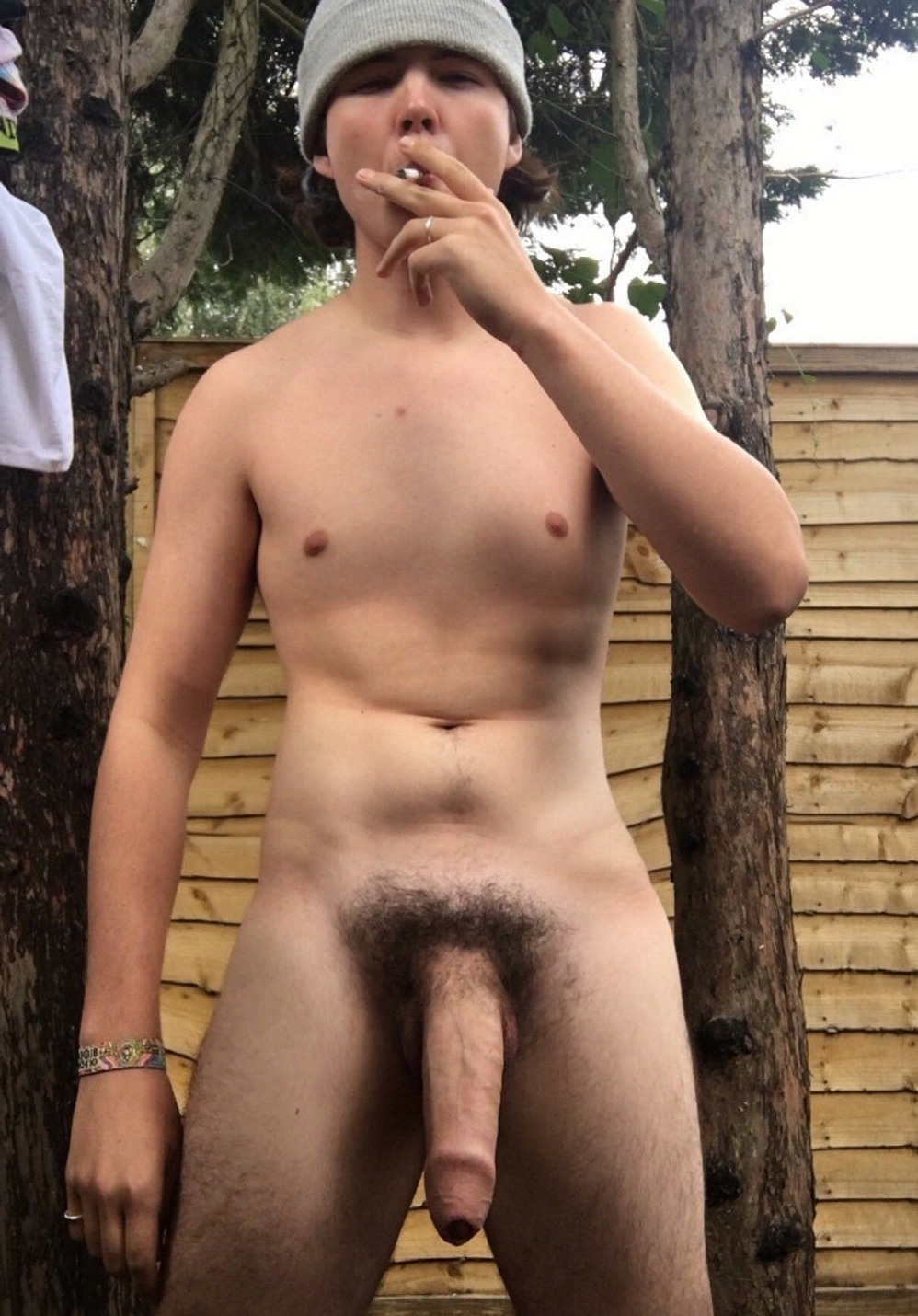Naked boy with a huge dick