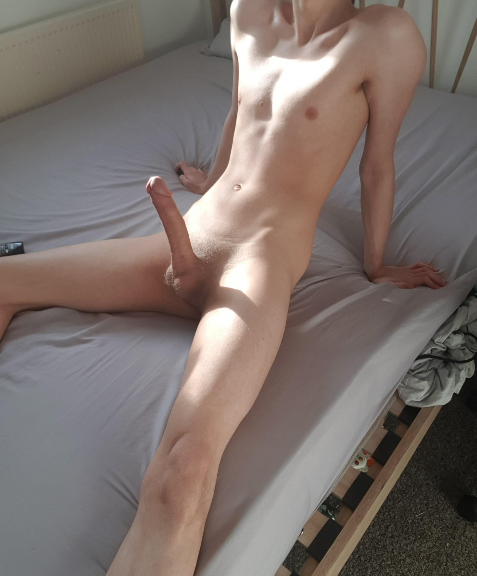 Naked boy with a long dick