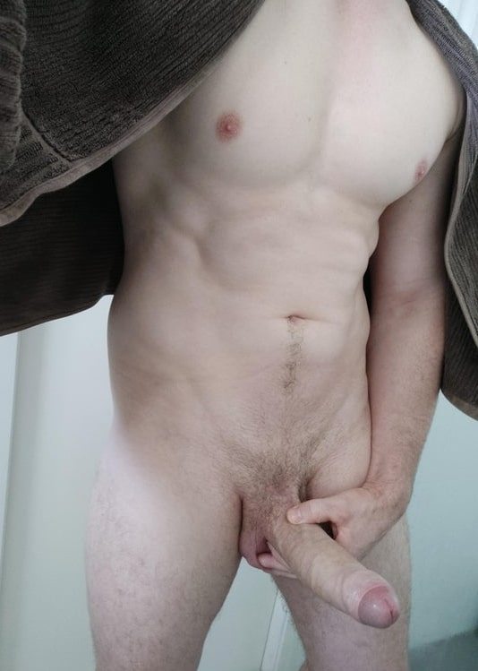 Pale stud with a big cock