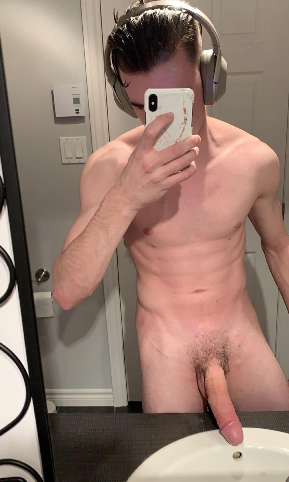 Slim boy with a big penis